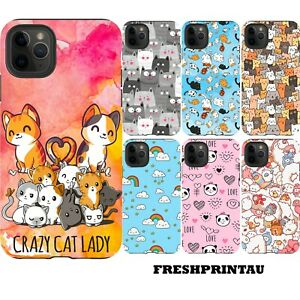 Shockproof Case Cover Cute Kawaii Kittens Cat Collage Happy Colourful Panda Bear