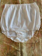 Vintage Sears Granny Sissy White Panties Nylon Gusset 7