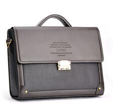 Mens business Leather Laptop Briefcase Handbag Messenger Shoulder Password bag