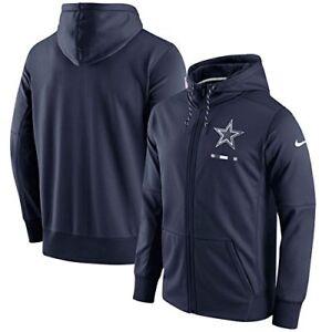 Dallas Cowboys Nike 2017 Sideline Logo Performance Full-Zip Hoodie Jacket - Navy
