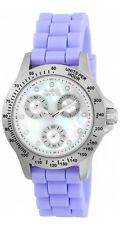 New Womens Invicta 21969 Speedway Purple Silicone Strap Watch