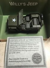 Willy's Jeep Gateway Global Army Green 1:32 Scale, COA, Free Shipping!!