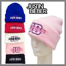 **PINK** JUSTIN BIEBER BEANIE WINTER CAP HAT FOLD UP CUFF BEANIE
