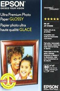 Epson Ultra Premium Photo Paper Glossy (4x6 Inches, 60 Sheets) (S042181)