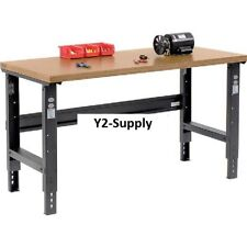 """NEW! 72""""W X 30""""D Shop Top Square Edge Workbench-Adjustable Height-Black!!"""