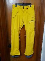 Burton DryRide Snowboard Ski Pants Yellow Size Medium !!!