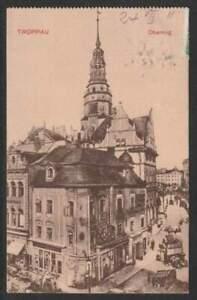 1911 Ak Troppau Oberring (Tschechien) AN10390 m. Taxeverm. gelaufen, Erh. I-