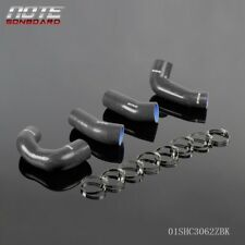 Fit For Porsche 911 997 Black Turbo Silicone Radiator Boost Hose Kit