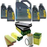 Inspektionspaket 9L Mercedes Öl 229.5 5W40+ MANN Filterpaket 11132777