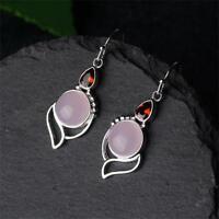 gemstone oreille garnet ruby calcédoine pierre boucles d'oreilles opale