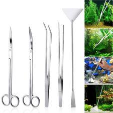 UEETEK Aquarium Tools Kit 5 in 1 Stainless Steel Fish Tank Aquatic Plant Tweezer