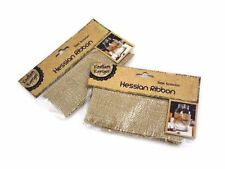 2x Hessian Jute Burlap Party Home Wedding Candle Table Cloth Decoration 6x100cm