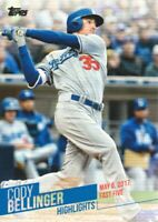 2018 Topps Baseball Cody Bellinger Highlights Inserts #CB-3 Los Angeles Dodgers