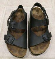 7682b9bb0c16 Birkenstock Birkis Brown Ankle strap Buckle Slingback Sandals Shoes Sz 37  L6 M4