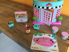 EUC Lil Woodzeez ICE CREAM Parlor Super Cute Use For Calico Critters 26 Pieces!!