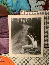 1960's Phillipe Halsman Vintage Nude Girl Near Road Outdoors Signed in White Ink