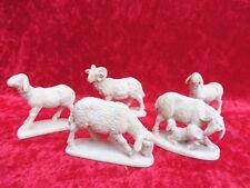 5 belle figure di legno Presepio __ __ __ pecore scolpito __ Tirolo!