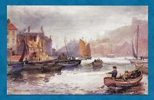 C1910'S PC QUAY SIDE, WHITBY by A. WINTER MOORE RAPHAEL TUCK