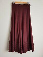 Panel light knit red wood stretchy M&S Skirt viscose blend size 10