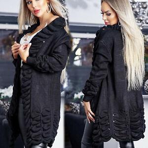 Damenjacke Damenblazer Blazer Jacke Strick - Bolero Stricjacke schwarz S-M #Z47