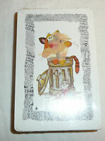 SEALED Cat on Trash Can Deck of Playing Cards VTG Stardust Newspaper Border Tom