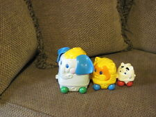 HTF Vintage 1995 Fisher Price NESTING Zoo Animal Train Elephant  Lion Zebra