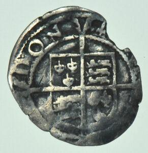 ELIZABETH I PENNY (1582), mm. SWORD, BRITISH SILVER HAMMERED COIN FAIR/FINE