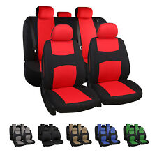 9pcs Auto Seat Covers Car Truck Suv Front Full Set Universal Protectors 6 Color Fits Volvo
