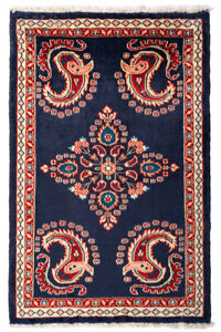 Genuine Handmade Rug Traditional Hand-Knotted Small Oriental Rug 110x 72 cm