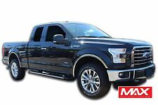 FTFD214 2015-2017 Ford F-150 w/o Factory Flare POLISHED Stainless Fender Trim