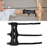 Sport Bogenschießen Bogen Arm Schutz mit 3 justierbarem Bügel Schwarz