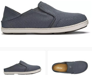 Olukai Nohea Mesh Wind Grey Slip-On Shoes Loafer Men's US sizes 7-16 NEW