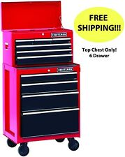 Craftsman 6 Drawer Top Chest Storage Toolbox Box Tool Bearing 26 Cabinet Heavy