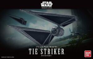 Bandai 1/72 Scale Model Starfighter Kit Star Wars Rogue One Tie Striker Fighter