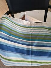 Threshold Blue Stripe Shower Curtain Excellent Used Condition
