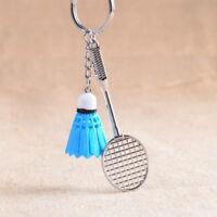 Cute Mini badminton Racket Shaped Pendant Keychain Keyring Key Chain Ring Gift