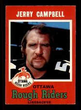 1971 O-Pee-Chee CFL #77 Jerry Campbell  EXMT X1223780