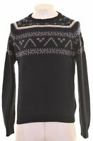 RIFLE Mens Crew Neck Jumper Sweater Large Navy Blue Wool  W111