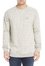 NEW RIP CURL MEN BAEZ FLEECE PULLOVER White Grey M MEDIUM R77 RP$54.50