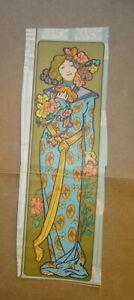 DLG Alphonse MUCHA (1860-1939) Litho ART NOUVEAU COULEUR FEMME OR MODE 1900