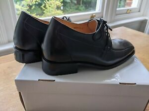 Men's height increasing elevator shoes black leather size 42 / UK8.  Worn once.