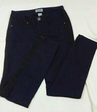 Mudd Women's Juniors Skinny Slim Fit Jeans Denim Blue Black Stripe Sz 5