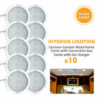 10x12V Spot LED intérieur Lumière chaude Pour camping-car caravane lumière