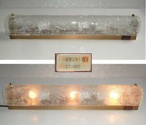 Hillebrand Wandlampe 50cm Spiegelleuchte Messing 70er Kalmar-Eisglas ? Murano ?