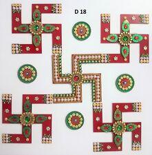 Indian Handmade Rangoli Decor Reusable Acrylic Decorative Wedding Table Designs