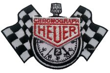 CHRONOGRAPH HEUER Iron Sew On Patch motor car racing FORMULA CLOCK