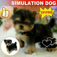 Realistic Dog Simulation Toy Dog Puppy Lifelike Stuffed Companion Toy Pet
