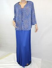 NEW NWT Alex Evenings Plus Size MOTB Sparkle Gown 2 Piece Cardigan Dress Set 18W