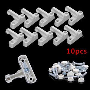 10pcs UPVC Window Safety Locks Door Sash Jammer Security Restrictor Lock White