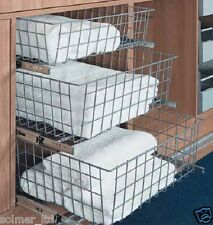 GTV Wardrobe Pull out Wire Baskets in sizes 400,500 & 600mm / Soft Close Runners